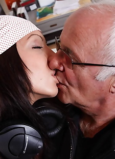 porn photos A horny old man gets to fuck a young, blowjob , hardcore