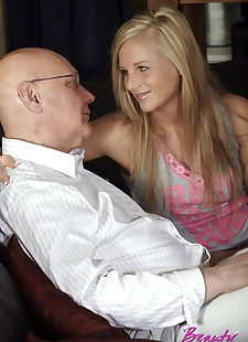 porn photos Horny senior fellow drills a willing, blonde , blowjob