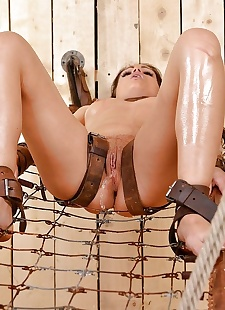 porn photos Bound BDSM brunette hottie with sexy, Sophie Lynx , ass , brunette