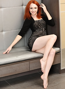 porn photos Pale redhead Dido flaunts her tight, ass , shaved