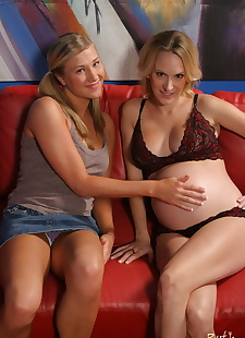 porn photos Pregnant Ruth Blackwell helps, blonde , petite